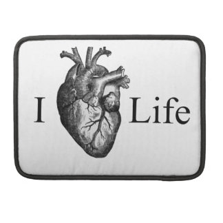 I Heart Life Sleeve For MacBooks