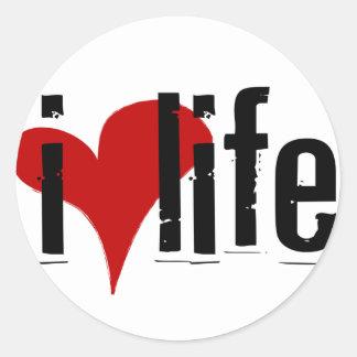"""""""I Heart Life"""" sticker"""