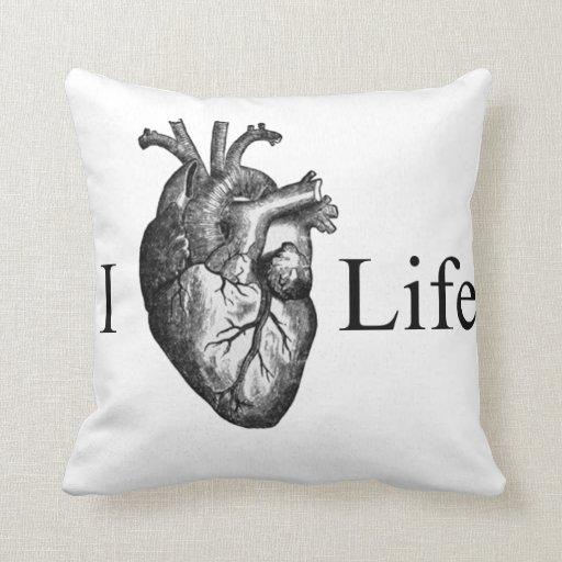 I Heart Life Throw Pillows