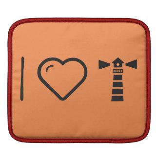 I Heart Lighthouses iPad Sleeve