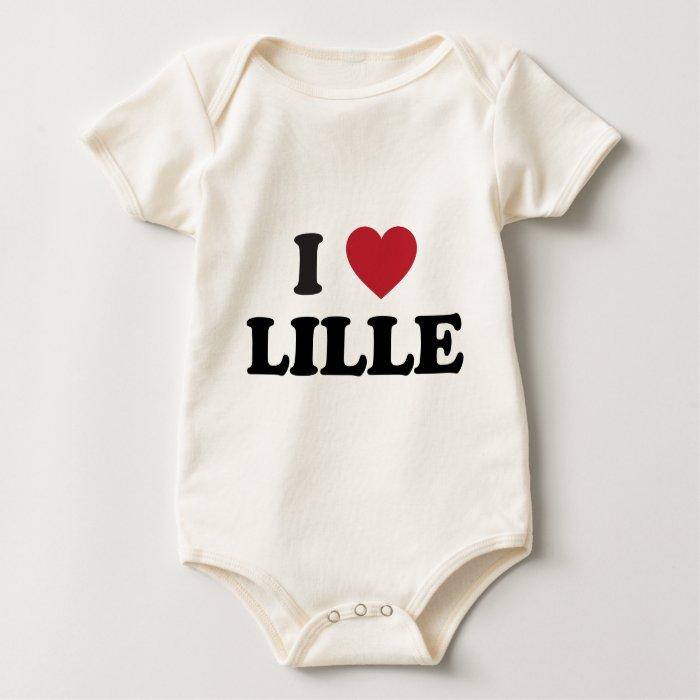I Heart Lille France Baby Bodysuit