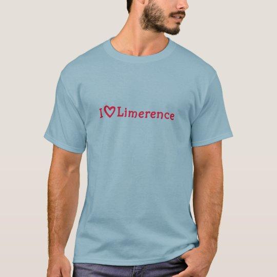i heart Limerence raspberry tee