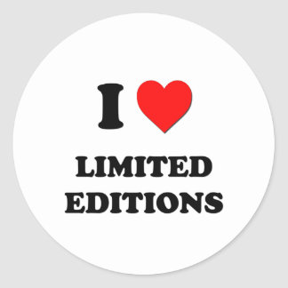 I Heart Limited Editions Classic Round Sticker