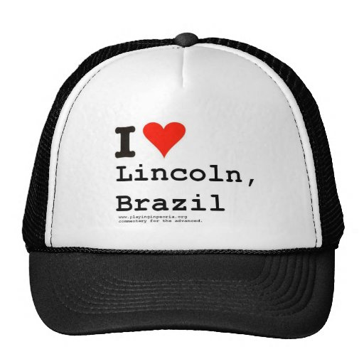 I Heart Lincoln Trucker Hat
