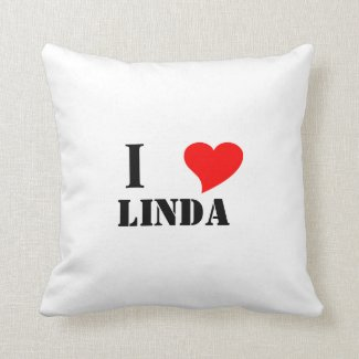 I heart Linda Throw Pillow