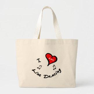 I Heart Line Dancing Large Tote Bag