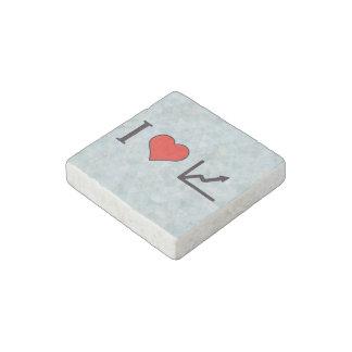 I Heart Line Graphs Stone Magnet