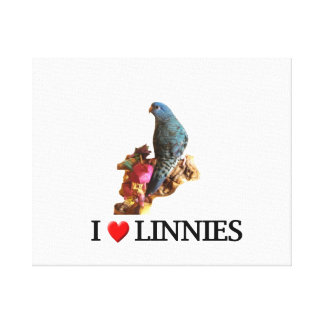 "I ""Heart"" Linnies Canvas Print"