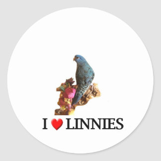"""I """"heart"""" linnies sticker"""