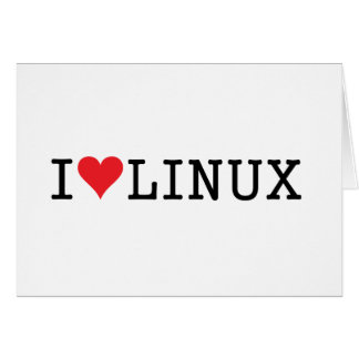 I Heart Linux 2 Greeting Card