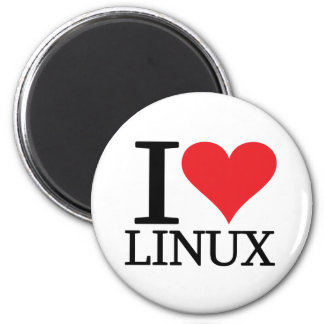 I Heart Linux 2 Inch Round Magnet