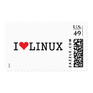 I Heart Linux 2 Stamps