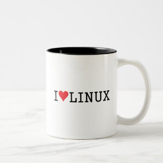 I Heart Linux 2 Two-Tone Coffee Mug