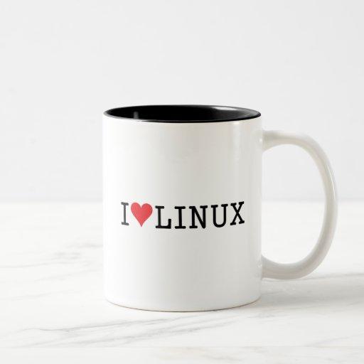 I Heart Linux 2 Two-Tone Coffee Mug