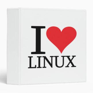 I Heart Linux 3 Ring Binder