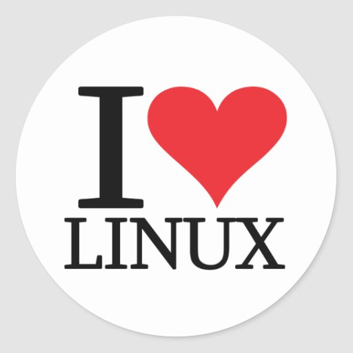 I Heart Linux Classic Round Sticker
