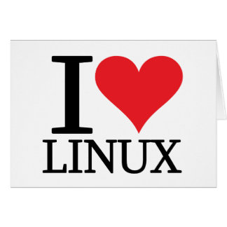 I Heart Linux Greeting Card