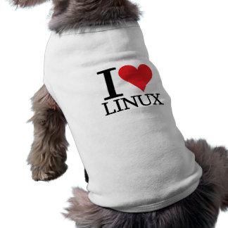 I Heart Linux Pet Tshirt