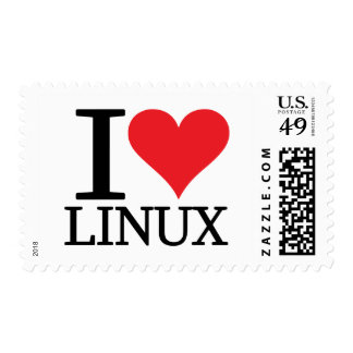 I Heart Linux Stamps