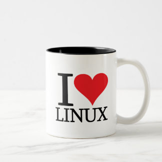 I Heart Linux Two-Tone Coffee Mug