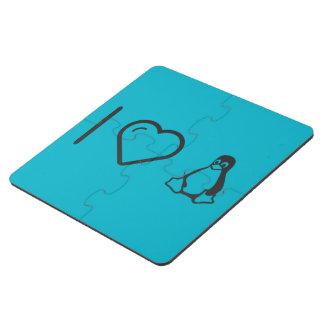 I Heart Linuxs Puzzle Coaster