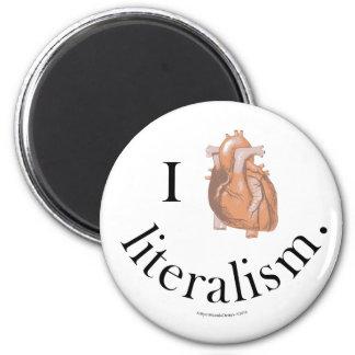 I Heart Literalism 2 Inch Round Magnet