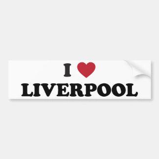 I Heart Liverpool England Bumper Sticker