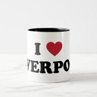 I Heart Liverpool England Two-Tone Coffee Mug