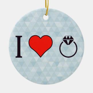 I Heart Living In Dreams Ceramic Ornament