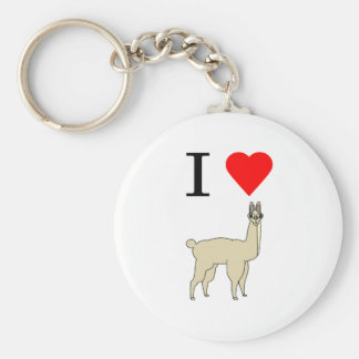 i heart llama key chains