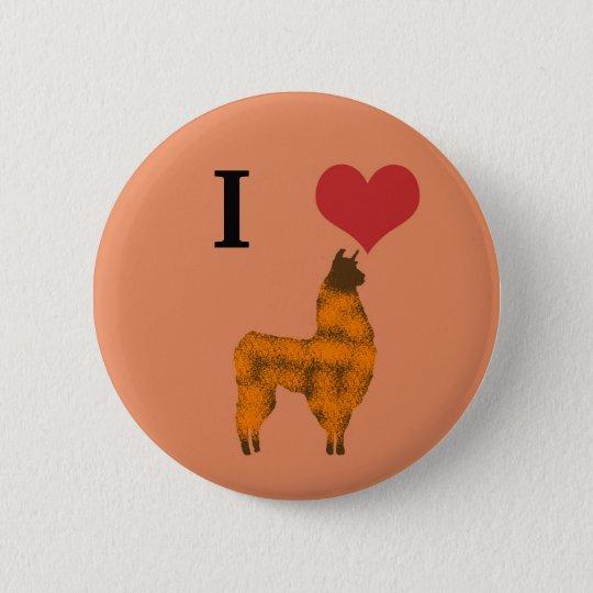 I heart llamas button