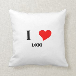 I heart Lodi Throw Pillow