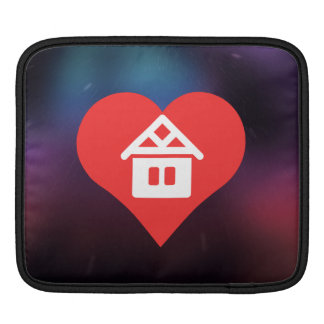 I Heart Log Houses Icon iPad Sleeve