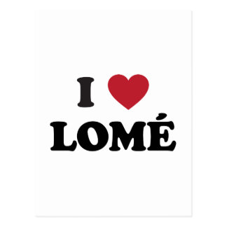 I Heart Lome Togo Postcard
