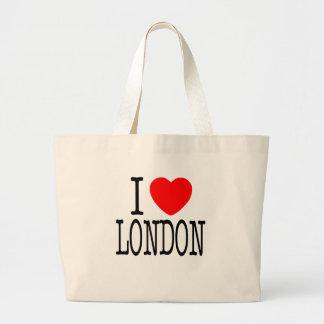 I HEART LONDON CANVAS BAGS