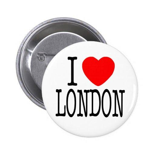 I HEART LONDON PINBACK BUTTON