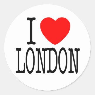 I HEART LONDON CLASSIC ROUND STICKER