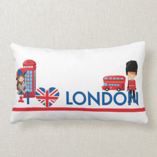 I Heart London With Phone Booth Bus and More Pillow