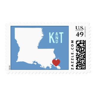 I Heart Louisiana - Customizable City Stamp