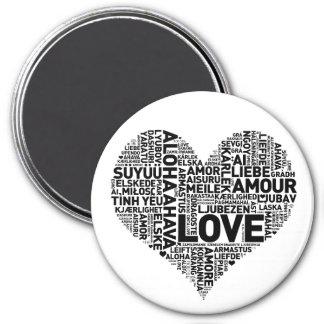 I HEART LOVE 3 INCH ROUND MAGNET