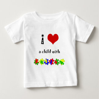 I Heart (Love) a Child with Autism Baby T-Shirt