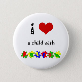 I Heart (Love) a Child with Autism Button