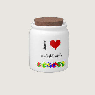 I Heart (Love) a Child with Autism Candy Dishes