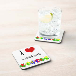 I Heart (Love) a Child with Autism Coaster