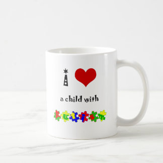I Heart (Love) a Child with Autism Coffee Mug