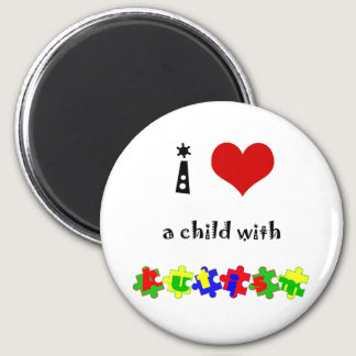 I Heart (Love) a Child with Autism Magnet