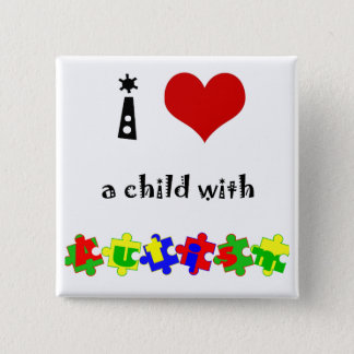 I Heart (Love) a Child with Autism Pinback Button