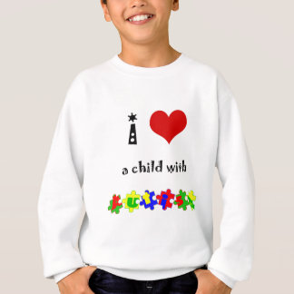 I Heart (Love) a Child with Autism Sweatshirt
