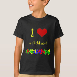 I Heart (Love) a Child with Autism T-Shirt
