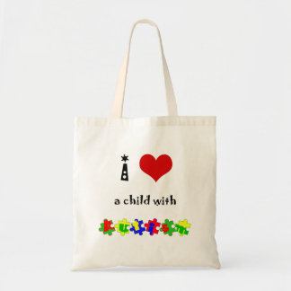 I Heart (Love) a Child with Autism Tote Bag